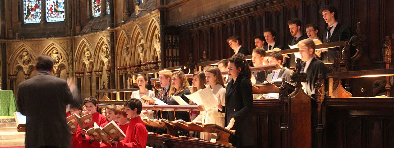 Joint Evensong with St John's Choir in St John's Chapel
