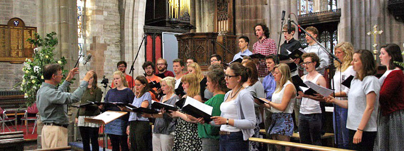 Recording Ludford CD in St Lawrence's Church, Ludlow
