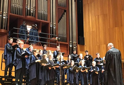 Choir in Lippes Concert Hall, Buffalo NY Sept 2019
