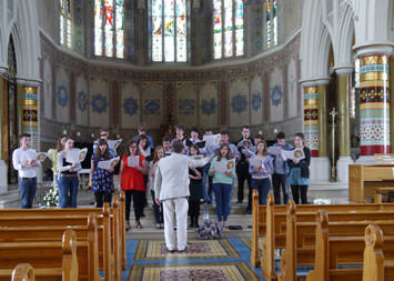 Rehearsal at St Peter's Belfast